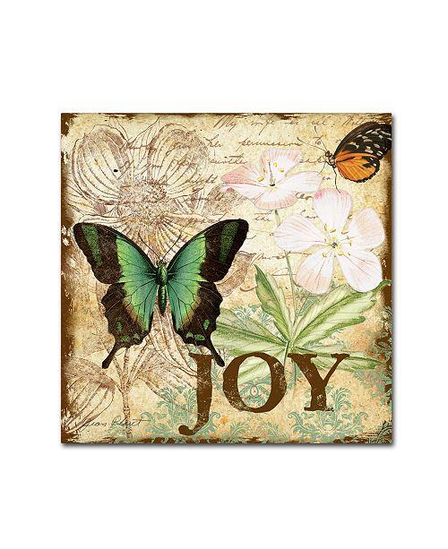 """Trademark Global Jean Plout 'Butterflies 4' Canvas Art - 35"""" x 35"""" x 2"""""""
