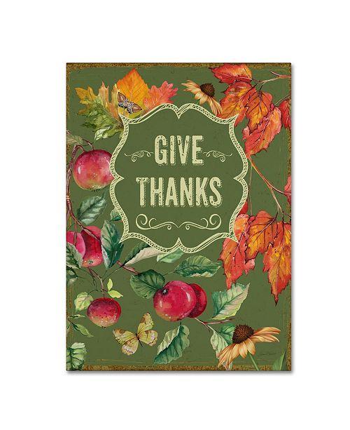 "Trademark Global Jean Plout 'Thanksgiving 12' Canvas Art - 19"" x 14"" x 2"""