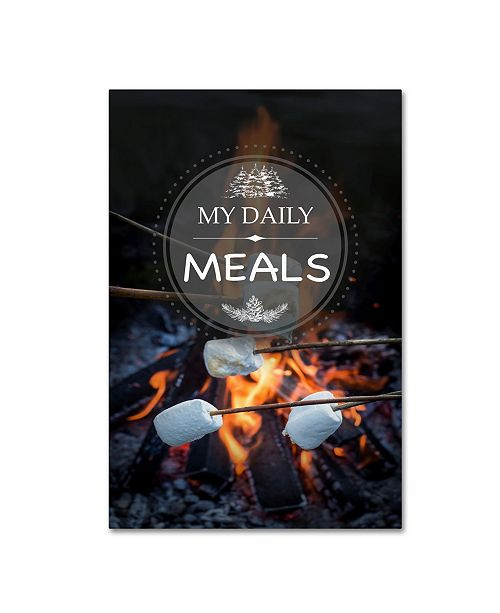 """Trademark Global Jean Plout 'My Daily MEALS' Canvas Art - 19"""" x 12"""" x 2"""""""