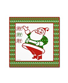 "Jean Plout 'Ugly Christmas Sweater Santa 1' Canvas Art - 18"" x 18"" x 2"""