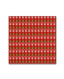"Jean Plout 'Ugly Christmas Sweater Santa 6' Canvas Art - 14"" x 14"" x 2"""