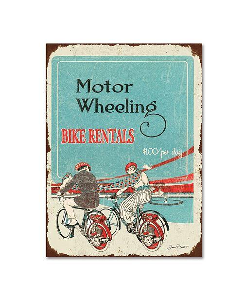 "Trademark Global Jean Plout 'Bike Rentals' Canvas Art - 19"" x 14"" x 2"""