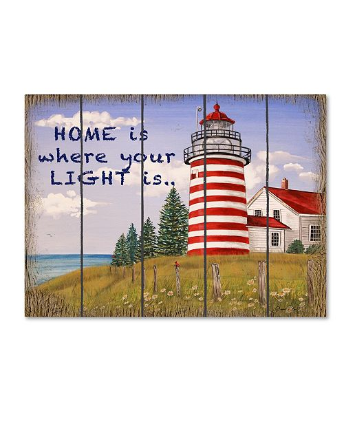 "Trademark Global Jean Plout 'Home Lighthouse' Canvas Art - 47"" x 35"" x 2"""