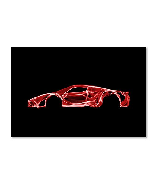 "Trademark Innovations Octavian Mielu 'Ferrari LaFerrari' Canvas Art - 19"" x 12"" x 2"""