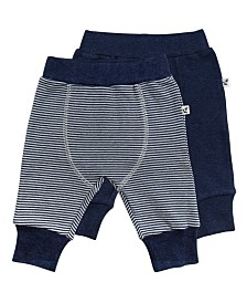 Mac and Moon 2-Pack Navy and Striped Pants