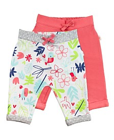 Mac and Moon 2-Pack Pink and Floral Print Pants