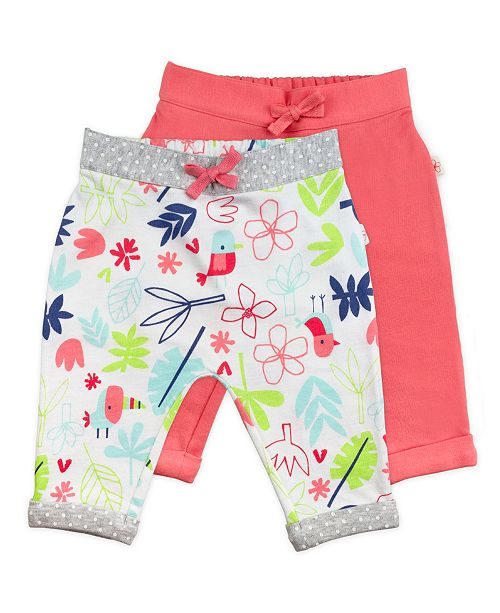 Mac & Moon Mac and Moon 2-Pack Pink and Floral Print Pants
