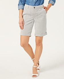 Utility-Pocket Cuffed Shorts, Created for Macy's