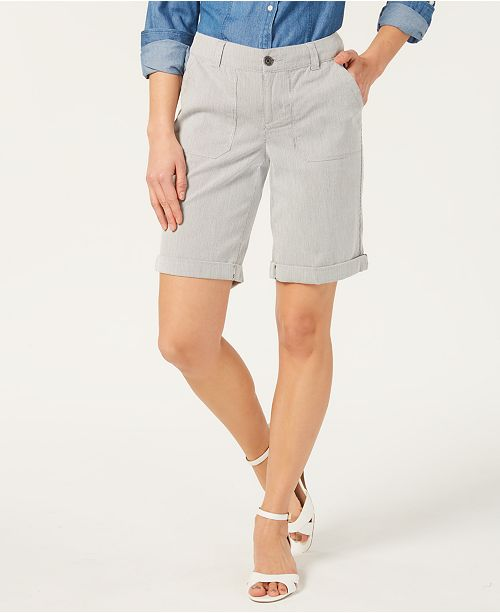 Charter Club Utility-Pocket Cuffed Shorts, Created for Macy's