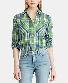 Lauren Ralph Lauren Petite Twill Cotton Shirt