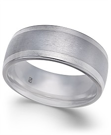 Men's Bright-Edge Cobalt Ring