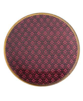 Global Tapestry Garnet  Dessert Plate