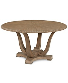 Trisha Yearwood Jasper County Stately Brown Round Dining Table