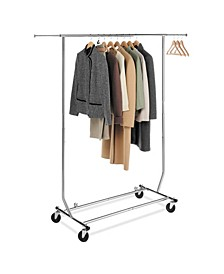 Adjustable Rolling Garment Rack