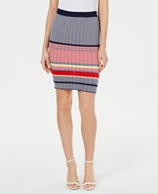 Lucy Paris Striped Sweater Skirt