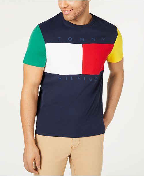 61b769c10 ... Tommy Hilfiger Men's Broadway Colorblocked Logo Graphic T-Shirt ...