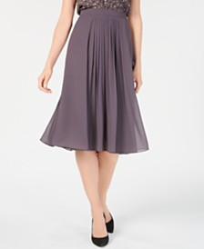 Anne Klein Georgette Pleated Skirt