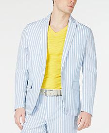 INC Men's Bold Seersucker Slim-Fit Blazer, Created for Macy's