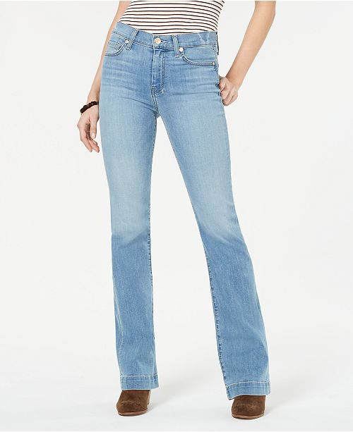 7 For All Mankind Dojo Contrast-Stitch Bootcut Jeans