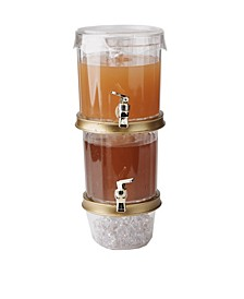 2 Tier Stackable Drink Holder with Lids