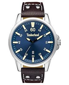 Men's Eastham Dark Brown/Silver/Blue Watch