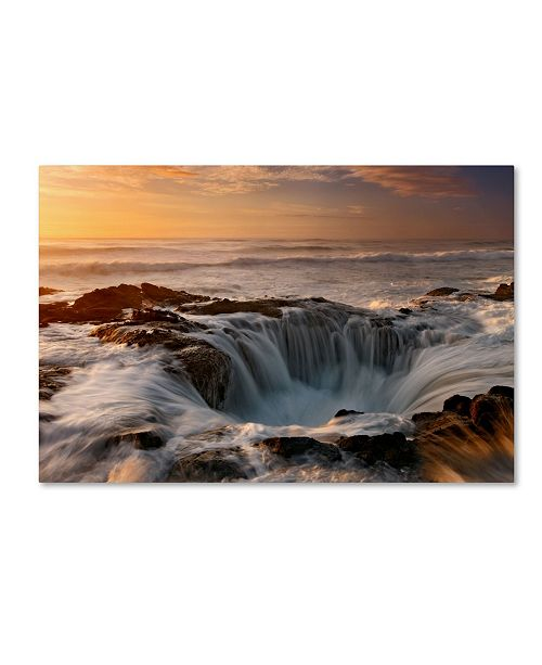 "Trademark Global Mike Jones Photo 'Oregon Thor's Well' Canvas Art - 47"" x 30"" x 2"""
