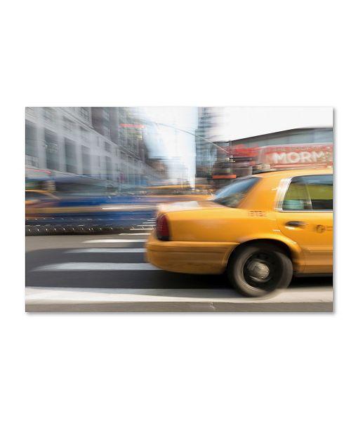 "Trademark Global Moises Levy 'Cab 2' Canvas Art - 24"" x 16"" x 2"""