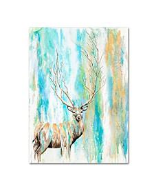 "Michelle Faber 'Deer Tree' Canvas Art - 47"" x 35"" x 2"""