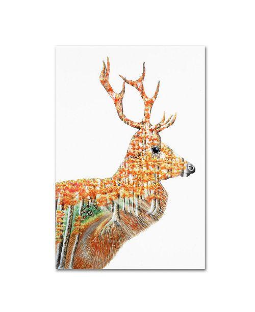 "Trademark Global Michelle Faber 'Spirit Of The Forest Deer Landscape' Canvas Art - 47"" x 30"" x 2"""