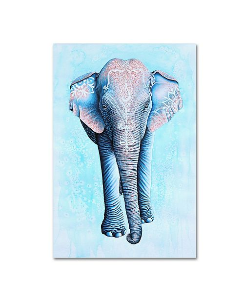 """Trademark Global Michelle Faber 'Painted Asian Elephant' Canvas Art - 47"""" x 30"""" x 2"""""""