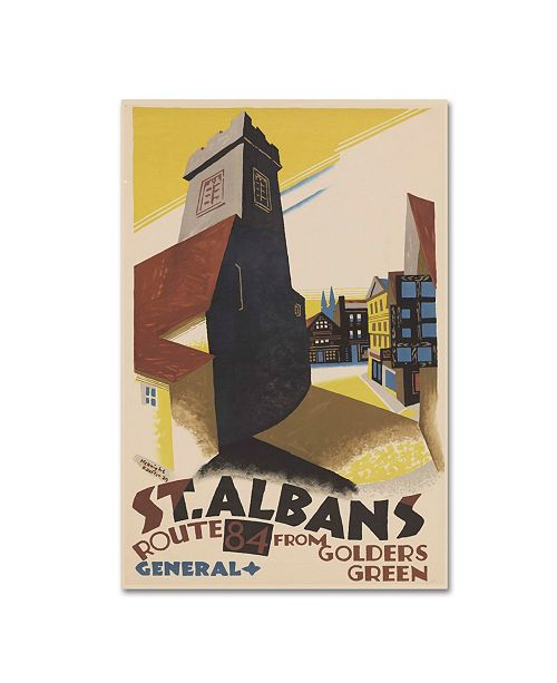"""Trademark Global Vintage Apple Collection 'St Albans' Canvas Art - 47"""" x 30"""" x 2"""""""