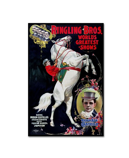 "Trademark Global Vintage Lavoie 'Circus 5' Canvas Art - 32"" x 22"" x 2"""