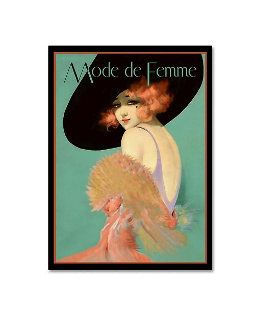 "Trademark Global Vintage Lavoie 'Fashion Women 27' Canvas Art - 24"" x 18"" x 2"""