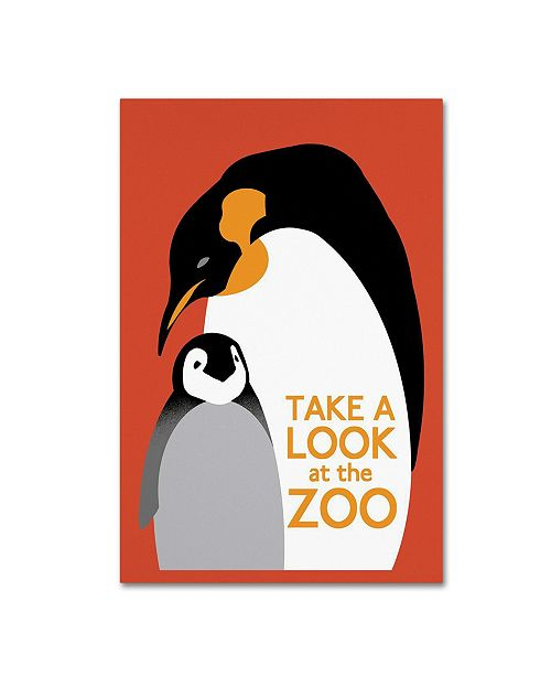 """Trademark Global Vintage Lavoie 'The Zoo 4' Canvas Art - 32"""" x 22"""" x 2"""""""