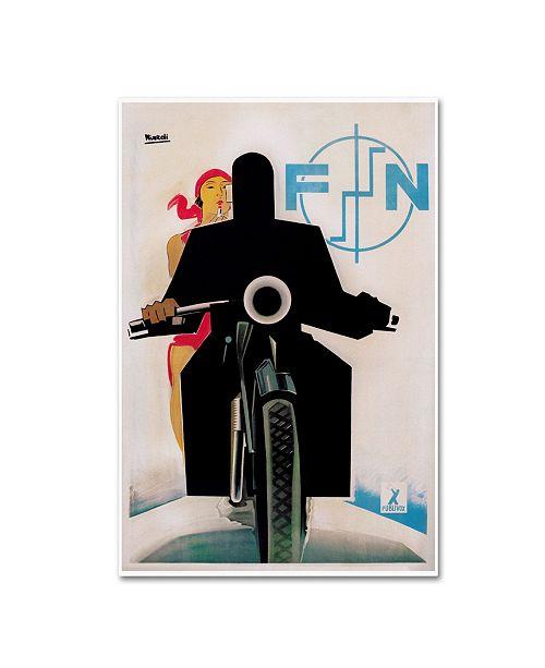 "Trademark Global Vintage Lavoie 'Travel 58' Canvas Art - 24"" x 16"" x 2"""
