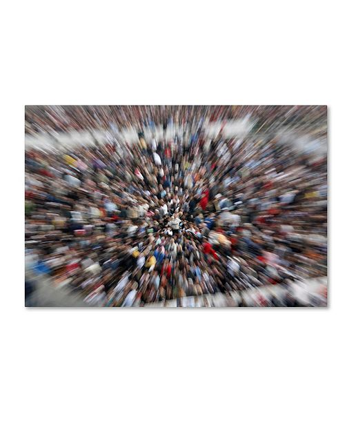 """Trademark Global Robert Harding Picture Library 'Crowds 2' Canvas Art - 24"""" x 16"""" x 2"""""""
