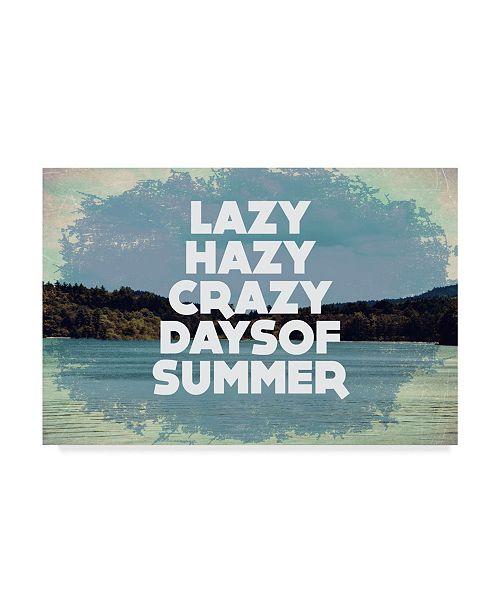 "Trademark Global Vintage Skies 'Hazy Days Of Summer' Canvas Art - 24"" x 16"" x 2"""