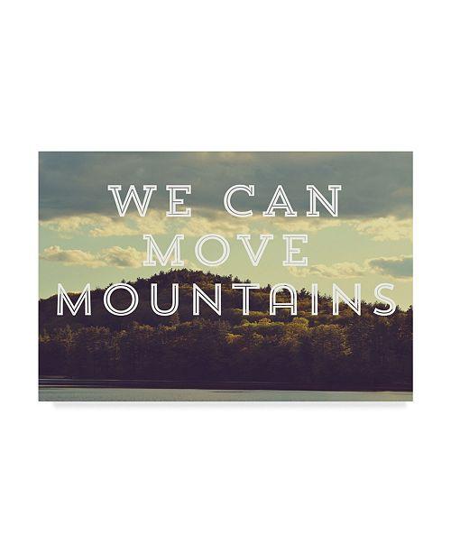 "Trademark Global Vintage Skies 'Move Mountains' Canvas Art - 47"" x 30"" x 2"""