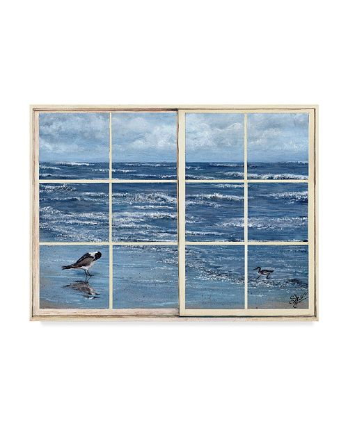 "Trademark Global Sher Sester 'Beach Reflections Through The Window' Canvas Art - 32"" x 24"" x 2"""