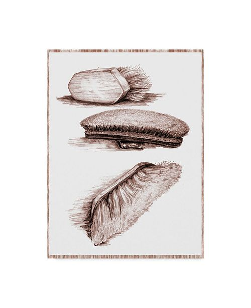 """Trademark Global Sher Sester 'Grooming Brushes' Canvas Art - 47"""" x 35"""" x 2"""""""