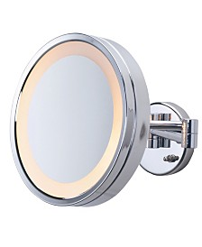 "The Jerdon HL7CF 9.75"" Lighted Wall Mount Makeup Mirror"