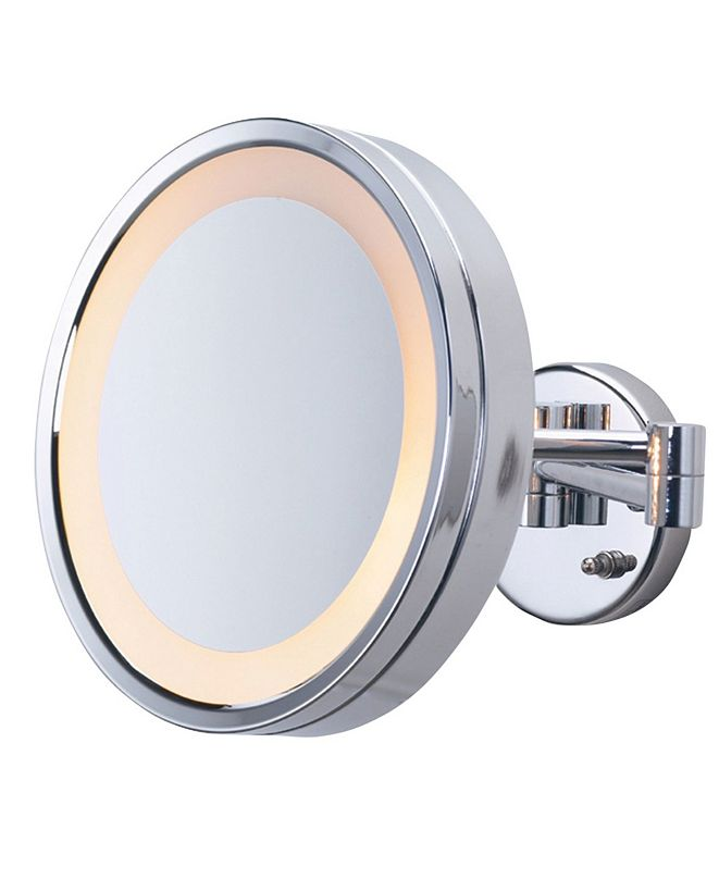 """Jerdon The HL7CF 9.75"""" Lighted Wall Mount Makeup Mirror"""