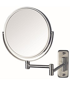 "The JP7808N 8"" Wall Mount Makeup Mirror"