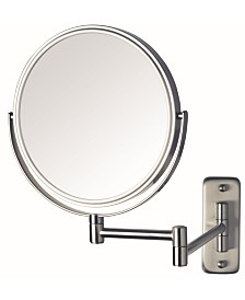 "The Jerdon JP7808N 8"" Wall Mount Makeup Mirror"