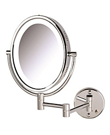 The HL9516C 5X-1X Magnification Oval Lighted Wall Mount Mirror