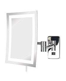 "The JRT710CLD 6.5"" x 9"" LED Lighted Wall Mount Rectangular Makeup Mirror"