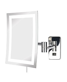 "The Jerdon JRT710CLD 6.5"" x 9"" LED Lighted Wall Mount Rectangular Makeup Mirror"
