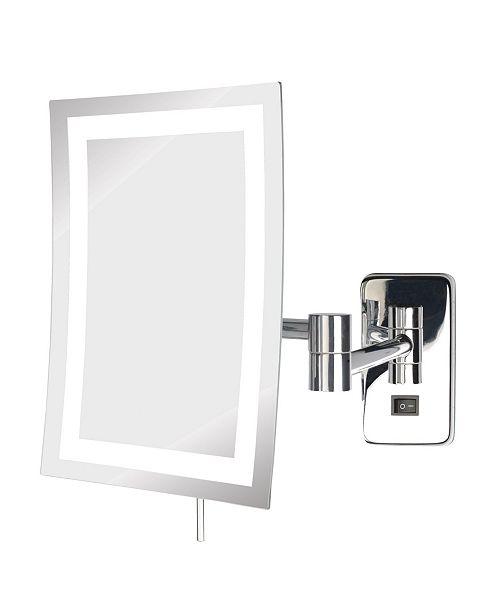 "Jerdon The JRT710CLD 6.5"" x 9"" LED Lighted Wall Mount Rectangular Makeup Mirror"