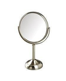 "The Jerdon JP918NB 8"" Tabletop Two-Sided Swivel Vanity Mirror"