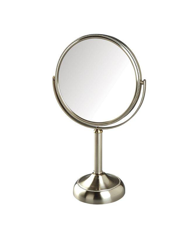 "Jerdon The JP918NB 8"" Tabletop Two-Sided Swivel Vanity Mirror"